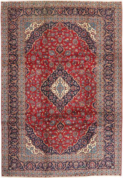 Keshan Matto 247X353 Itämainen Käsinsolmittu Tummanpunainen/Tummanruskea (Villa, Persia/Iran)