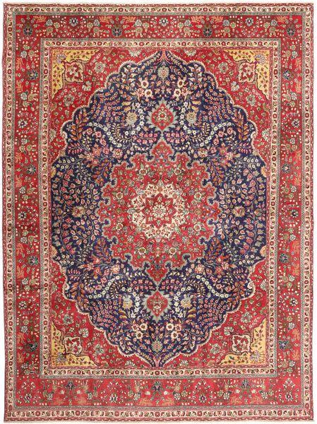 Tabriz Patina Matto 295X390 Itämainen Käsinsolmittu Tummanpunainen/Ruskea Isot (Villa, Persia/Iran)