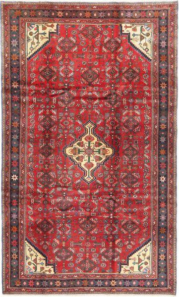 Hamadan Matto 199X336 Itämainen Käsinsolmittu Tummanpunainen/Punainen (Villa, Persia/Iran)