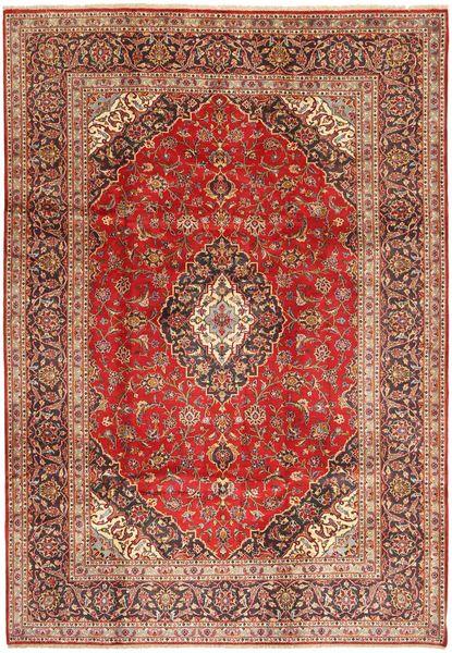 Keshan Matto 209X300 Itämainen Käsinsolmittu Tummanpunainen/Tummanruskea (Villa, Persia/Iran)