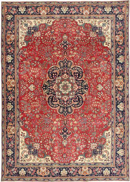 Tabriz Patina Matto 238X337 Itämainen Käsinsolmittu Ruskea/Tummanpunainen (Villa, Persia/Iran)