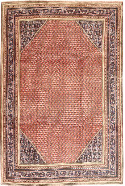 Sarough Mir Matto 210X317 Itämainen Käsinsolmittu Vaaleanruskea/Vaaleanpunainen/Tummanpunainen (Villa, Persia/Iran)