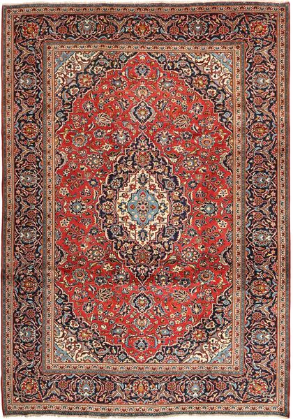 Keshan Matto 242X347 Itämainen Käsinsolmittu Tummanpunainen/Tummanruskea (Villa, Persia/Iran)