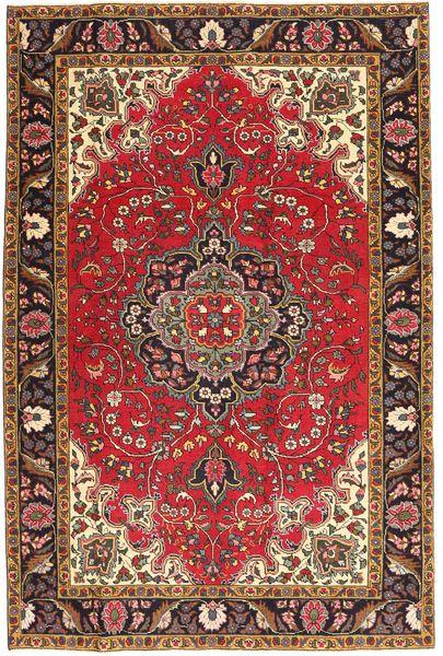 Tabriz Patina Matto 195X291 Itämainen Käsinsolmittu Tummanruskea/Vaaleanruskea (Villa, Persia/Iran)