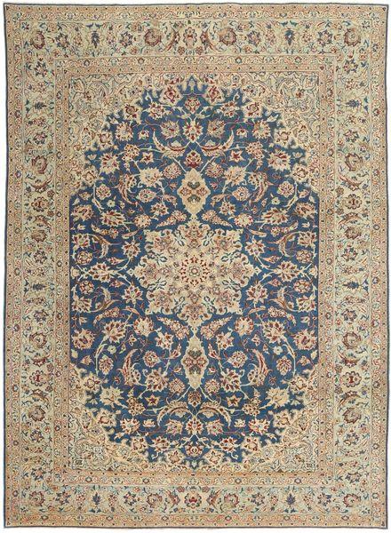 Najafabad Patina Matto 270X373 Itämainen Käsinsolmittu Vaaleanharmaa/Tummanharmaa Isot (Villa, Persia/Iran)