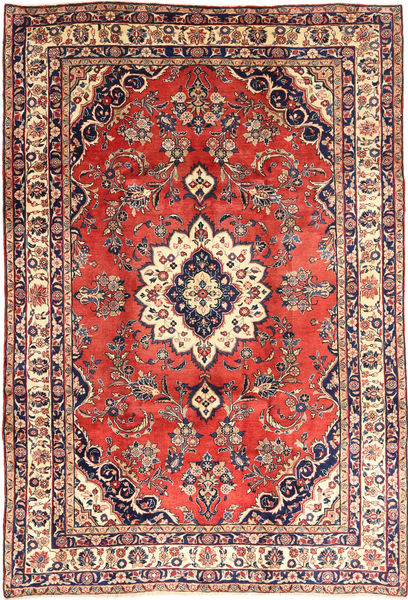 Hamadan#Shahrbaf Matto 213X315 Itämainen Käsinsolmittu Tummanharmaa/Ruoste (Villa, Persia/Iran)