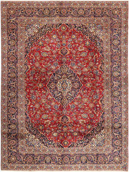 Keshan Matto 297X403 Itämainen Käsinsolmittu Tummanpunainen/Vaaleanruskea Isot (Villa, Persia/Iran)