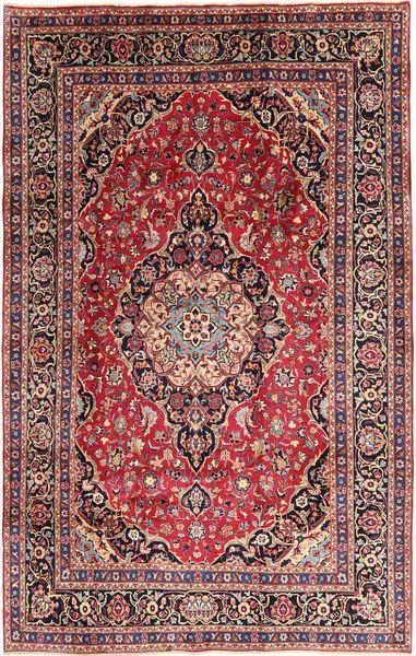 Mashad Matto 202X310 Itämainen Käsinsolmittu Tummanpunainen/Tummanruskea (Villa, Persia/Iran)