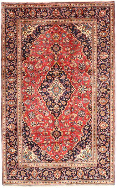 Keshan Matto 193X306 Itämainen Käsinsolmittu Tummanpunainen/Vaaleanruskea (Villa, Persia/Iran)