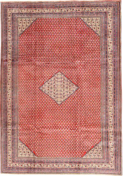 Sarough Mir Matto 210X293 Itämainen Käsinsolmittu Vaaleanpunainen/Tummanpunainen (Villa, Persia/Iran)