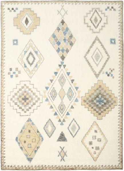 Berber Indo - Valkea/Beige Matto 240X340 Moderni Käsinsolmittu Beige/Valkoinen/Creme (Villa, Intia)