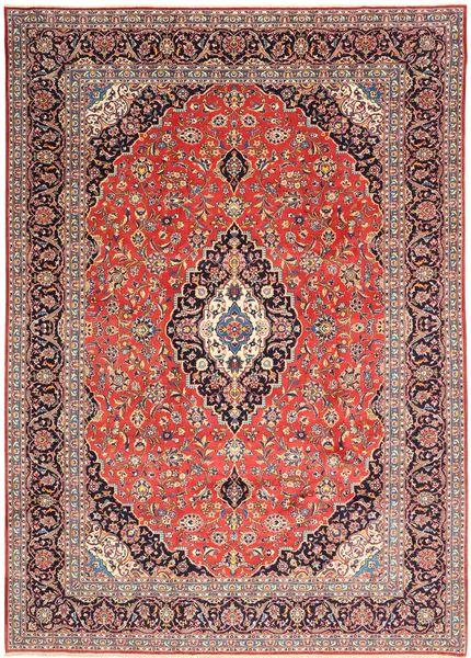 Keshan Matto 268X376 Itämainen Käsinsolmittu Ruoste/Vaaleanpunainen Isot (Villa, Persia/Iran)