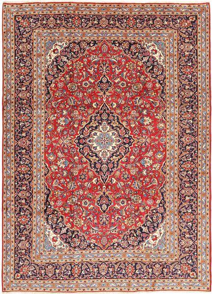 Keshan Matto 245X345 Itämainen Käsinsolmittu Tummanpunainen/Vaaleanpunainen (Villa, Persia/Iran)
