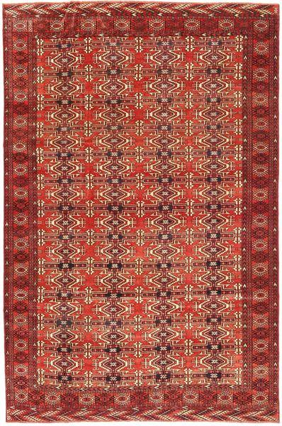 Turkaman Patina Matto 210X316 Itämainen Käsinsolmittu Tummanpunainen (Villa, Persia/Iran)