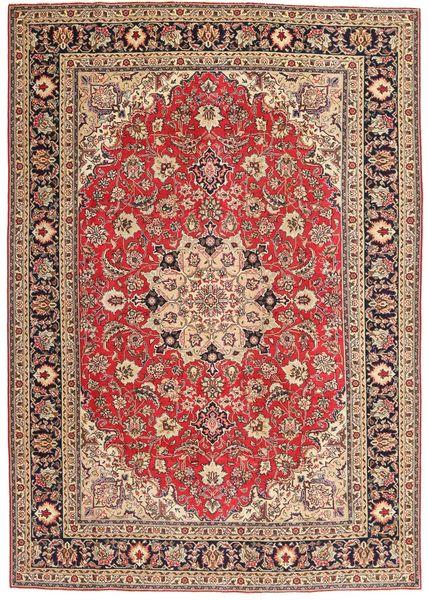 Tabriz Patina Matto 200X287 Itämainen Käsinsolmittu Tummanpunainen/Tummanruskea (Villa, Persia/Iran)