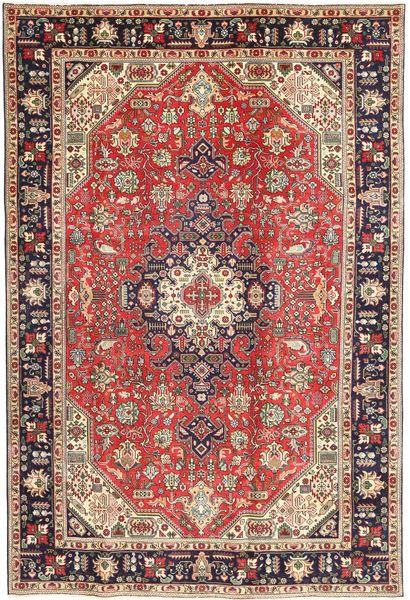 Tabriz Patina Matto 200X298 Itämainen Käsinsolmittu Ruskea/Tummanruskea (Villa, Persia/Iran)