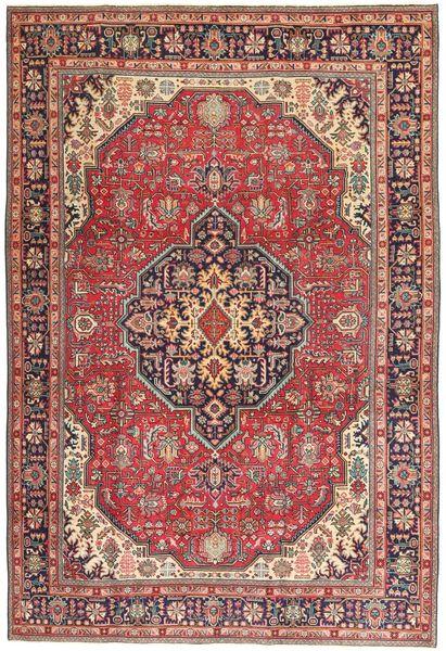 Tabriz Patina Matto 198X294 Itämainen Käsinsolmittu Tummanpunainen/Ruskea (Villa, Persia/Iran)