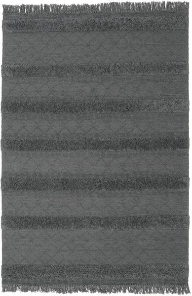 Kelim Berber Ibiza - Soft Grey Matto 200X300 Moderni Käsinkudottu Musta/Tummanharmaa (Villa, Intia)