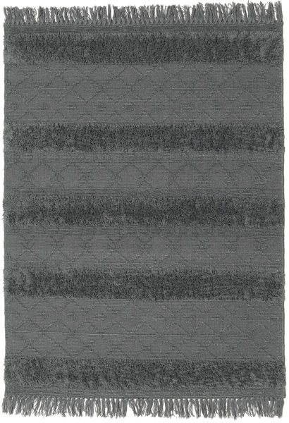 Kelim Berber Ibiza - Soft Grey Matto 140X200 Moderni Käsinkudottu Musta/Sininen (Villa, Intia)