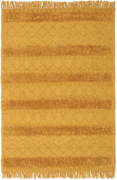 Kelim Berber Ibiza - Mustard Yellow Matto 160X230 Moderni Käsinkudottu Keltainen/Vaaleanruskea (Villa, Intia)