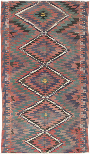 Kelim Turkki Matto 177X305 Itämainen Käsinkudottu Tummanharmaa/Vaaleanharmaa (Villa, Turkki)