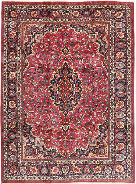 Mashad Matto 243X324 Itämainen Käsinsolmittu Tummanruskea/Tummanpunainen (Villa, Persia/Iran)