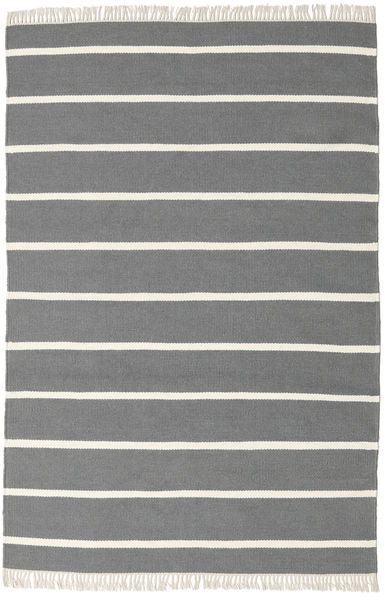 Dorri Stripe - Harmaa Matto 140X200 Moderni Käsinkudottu Tummanharmaa/Beige (Villa, Intia)