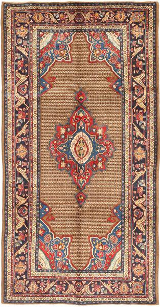 Koliai Matto 155X305 Itämainen Käsinsolmittu Käytävämatto Vaaleanruskea/Tummanruskea (Villa, Persia/Iran)