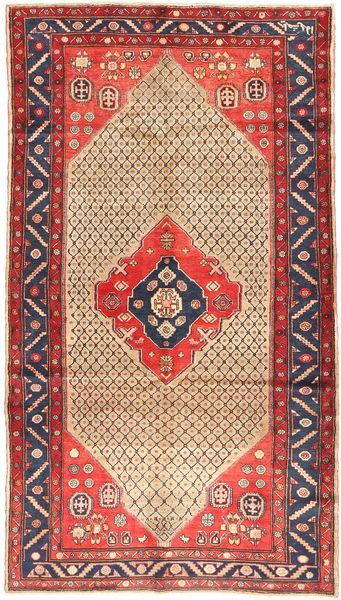 Koliai Matto 156X281 Itämainen Käsinsolmittu Käytävämatto Tummanpunainen/Beige (Villa, Persia/Iran)