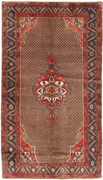 Koliai Matto 150X266 Itämainen Käsinsolmittu Tummanruskea/Tummanpunainen (Villa, Persia/Iran)