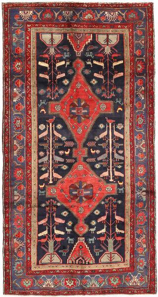 Koliai Matto 150X290 Itämainen Käsinsolmittu Käytävämatto Tummanpunainen/Musta (Villa, Persia/Iran)