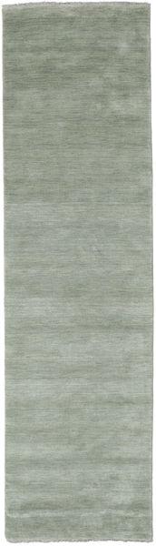 Handloom Fringes - Soft Teal Matto 80X300 Moderni Käytävämatto Vaaleanvihreä/Vaaleanharmaa (Villa, Intia)