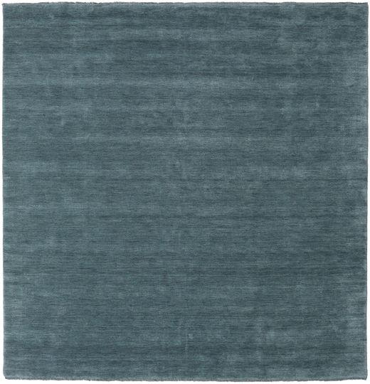 Handloom Fringes - Deep Petrol Matto 250X250 Moderni Neliö Sininen Isot (Villa, Intia)