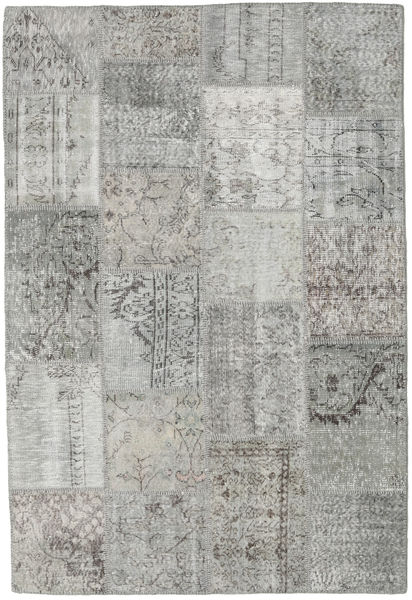 Patchwork Matto 157X234 Moderni Käsinsolmittu Vaaleanharmaa/Tummanharmaa (Villa, Turkki)