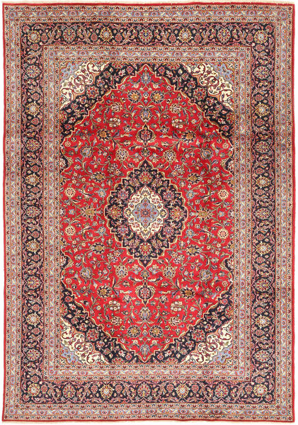 Keshan Matto 240X348 Itämainen Käsinsolmittu Tummanpunainen/Ruoste (Villa, Persia/Iran)