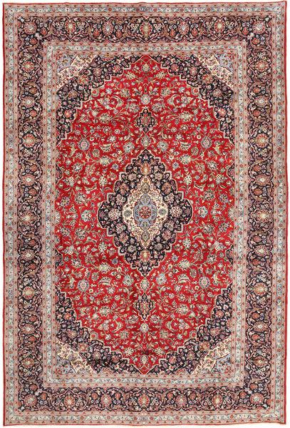 Keshan Matto 294X420 Itämainen Käsinsolmittu Tummanpunainen/Tummanruskea Isot (Villa, Persia/Iran)