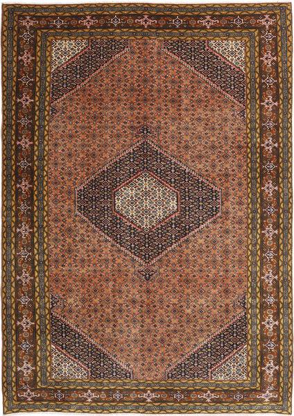 Ardebil Matto 193X277 Itämainen Käsinsolmittu Tummanruskea/Tummanpunainen (Villa, Persia/Iran)