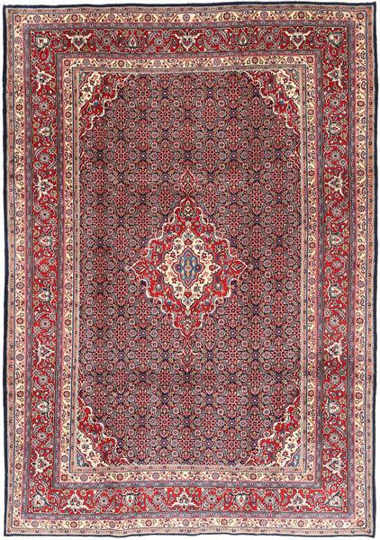 Moud Matto 216X308 Itämainen Käsinsolmittu Tummanpunainen/Tummanruskea (Villa, Persia/Iran)