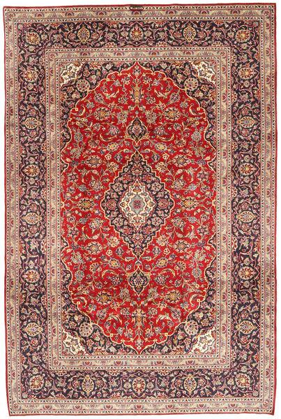 Keshan Matto 200X298 Itämainen Käsinsolmittu Ruoste/Tummanpunainen/Tummanruskea (Villa, Persia/Iran)