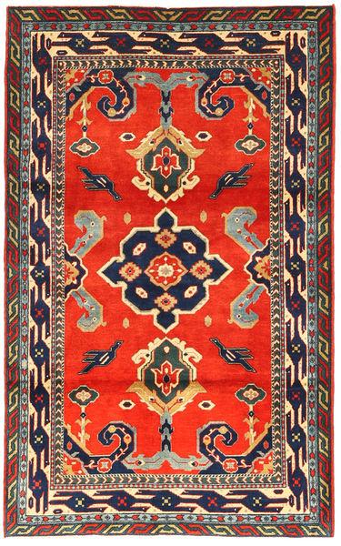 Kazak Matto 105X173 Itämainen Käsinsolmittu Tummanharmaa/Punainen (Villa, Azerbaidzan/Venäjä)