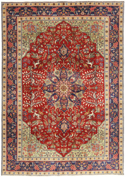 Tabriz Patina Matto 193X277 Itämainen Käsinsolmittu Tummanpunainen/Ruoste (Villa, Persia/Iran)