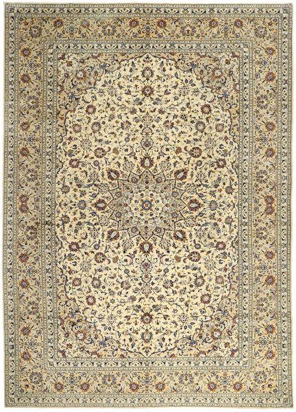Keshan Matto 295X400 Itämainen Käsinsolmittu Keltainen/Vaaleanharmaa Isot (Villa, Persia/Iran)