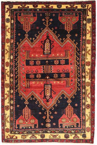 Koliai Matto 140X210 Itämainen Käsinsolmittu Musta/Tummanpunainen (Villa, Persia/Iran)