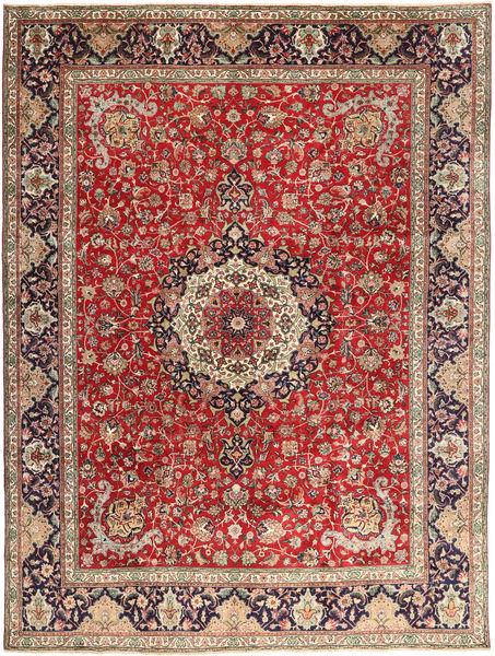 Tabriz Matto 292X393 Itämainen Käsinsolmittu Tummanpunainen/Ruoste Isot (Villa, Persia/Iran)