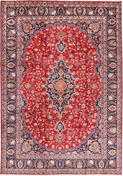 Mashad Matto 243X345 Itämainen Käsinsolmittu Vaaleanharmaa/Punainen (Villa, Persia/Iran)
