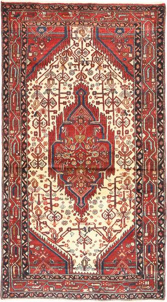 Hamadan Matto 105X198 Itämainen Käsinsolmittu Tummanpunainen/Ruoste (Villa, Persia/Iran)