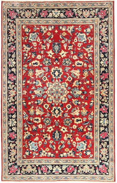 Yazd Matto 193X305 Itämainen Käsinsolmittu Tummanharmaa/Tummanpunainen (Villa, Persia/Iran)