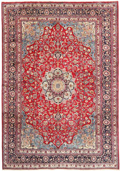 Mashad Matto 250X355 Itämainen Käsinsolmittu Beige/Ruoste Isot (Villa, Persia/Iran)