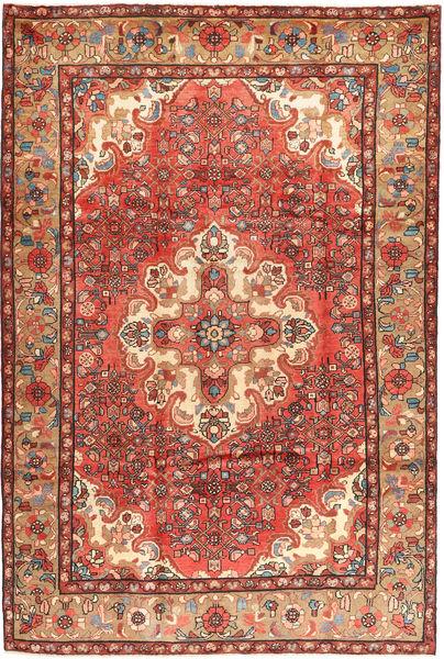 Hosseinabad Matto 210X315 Itämainen Käsinsolmittu Tummanpunainen/Ruoste (Villa, Persia/Iran)