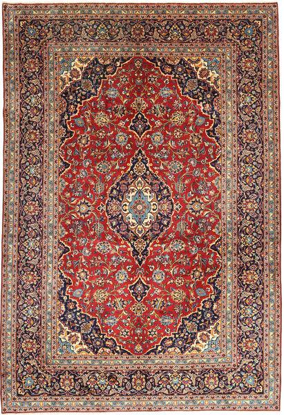 Keshan Matto 252X368 Itämainen Käsinsolmittu Tummanpunainen/Tummanruskea Isot (Villa, Persia/Iran)